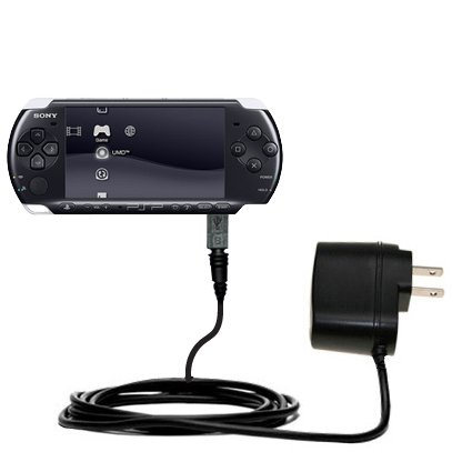 - Gomadic Intelligent Compact AC Home Wall Charger suitable for the Sony PSP-3001 Playstation Portable Slim - High output power with a convenient, foldable plug design - Uses TipExchange Technology