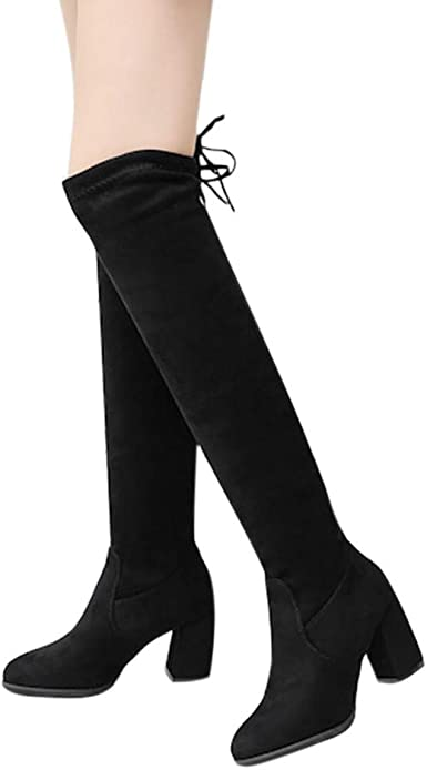 Details about  /Sexy Women Thigh High Boots High Heels Over the Knee Boots Shoes Party Evening