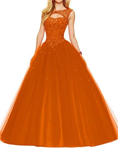 Promgirl House - Robe - Trapèze - Femme -  orange - 34