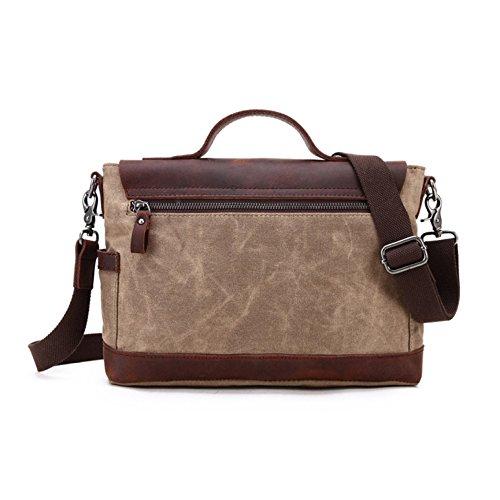 Bags Shoulder Paper Tote Messenger Bag Coffee Vintage Canvas Men's wq7RF6Pq