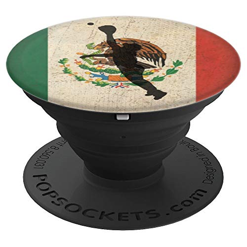 (Outfielder Mexico Baseball Player Mexican Flag Pride Gift - PopSockets Grip and Stand for Phones and Tablets)