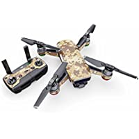 Coyote Camo Decal for drone DJI Spark Kit - Includes Drone Skin, Controller Skin and 1 Battery Skin