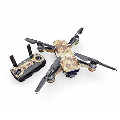 Coyote Camo Decal for Drone DJI Spark Kit - Includes Drone Skin, Controller Skin and 1 Battery Skin from DecalGirl
