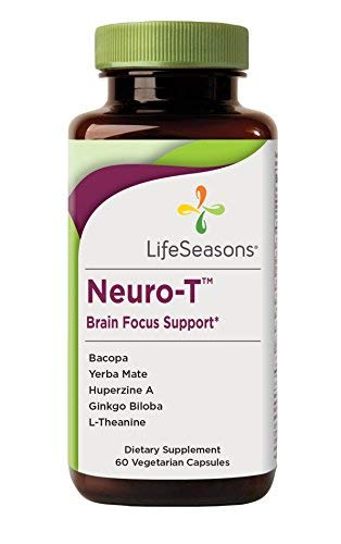 Cheap Neuro-T – Concentration and Focus Supplement – for All Ages – Nootropics Brain Health Formula Improves Mood and Mind – Memory Enhancer with Yerba Mate, Huperzine A & Ginkgo Biloba (60 Capsules)