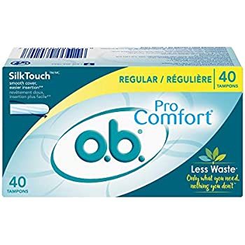 o.b. Pro Comfort Applicator Free Digital Tampons, Regular - 40 Count