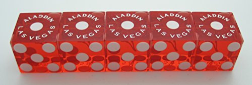 Aladdin Casino stick of used red dice (5) Las Vegas, Nevada 2000's