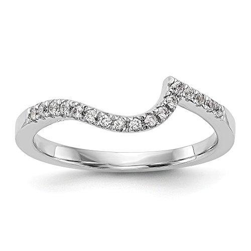 Colorless Diamond Wedding Band - FB Jewels Solid 14K White Gold True Origin Lab Grown Diamond Vs/Si Colorless Contoured Wedding Band Size 4.5