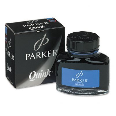 Parker Super Quink Permanent Ink for Parker Pens, 2-oz. Bottle (Blue)