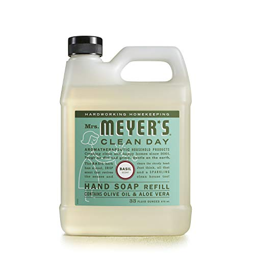 Mrs. Meyer's Liquid Hand Soap Refill, Basil, 33 fl oz
