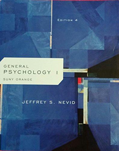 General Psychology I Edition 4