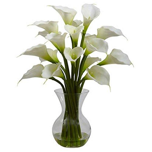 White-Galla-Calla-Lily-with-Vase-Silk-Flower-Arrangement