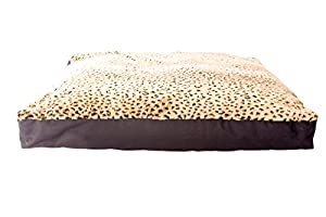 B00NLQYJK2ORZ GoodDogBeds 44 by 32-Inch Faux Fur Rectangle Dog Bed, X-Large, Cheetah