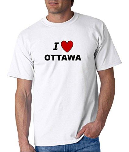 I LOVE OTTAWA - City-series - White T-shirt - size Small ()
