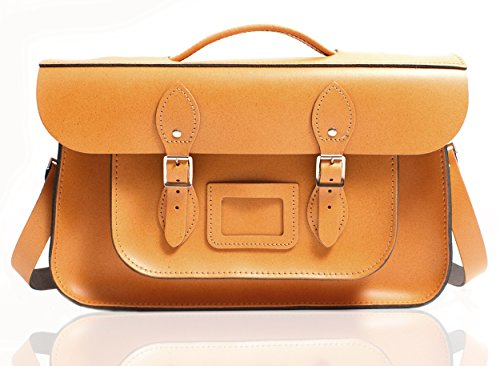 Oxbridge Satchel's - Bolso estilo cartera para mujer canela