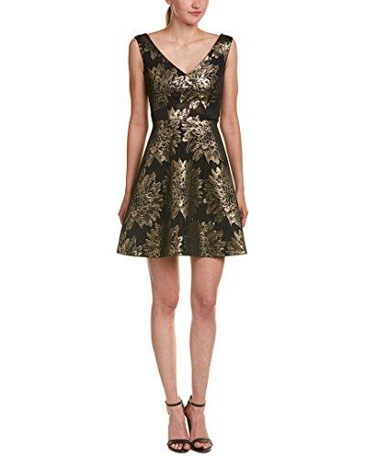 Karen Millen Womens Floral Jacquard Fit-and-Flare Dress, - Karen Millen Shop
