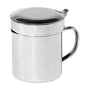 Generic LQ..8..LQ..2756..LQ Removab with Removable Steel G Grease Can ain Strainer, 1-Quart Stainless Steel 1-Quart, New US6-LQ-16Apr15-1453