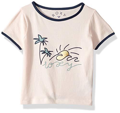 Roxy Girls' Toddler Times Up Short Sleeve T-Shirt, Cloud Pink, 3