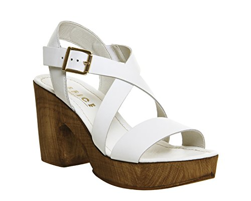 Unbekannt - Zapatos de vestir para mujer White Leather