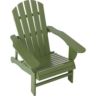 NEW Classic Sage Painted Wood Adirondack Chair