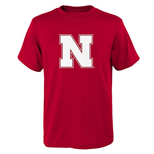 Outerstuff NCAA Nebraska Cornhuskers Primary Logo RP Short Sleeve Tee, Small (8), University Red ()