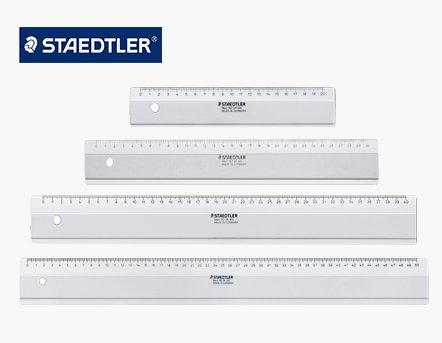 - Staedtler Mars 562 04-50S 50cm Ruler with Inking Edge