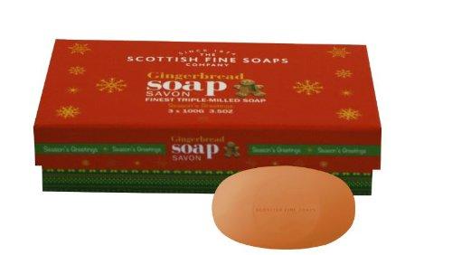 Estuche 3Jabones (aroma de pan de jengibre Scottish Fine Soaps TOUTOFFRIR AK1