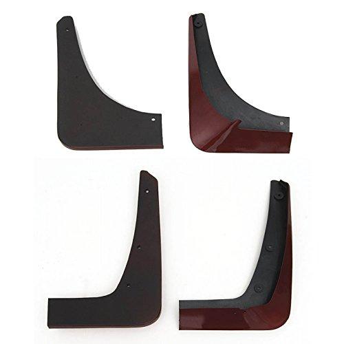 - Eckler's Premier Quality Products 25-190288 - Corvette Splash Guards, Body Contoured, Front & Rear, Crystal Red Metallic, Altec