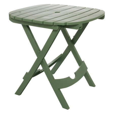 (Weather-Resistant Adams Manufacturing 8550-01-3700 Quik-Fold Tag-Along Side Table in Sage)