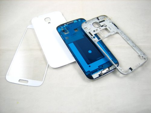 For Samsung Galaxy S4 SIV GT-i9500 White ~ Full Cover Housing+Front Glass Screen ~ Mobile Phone Repair Part - Cover Housing Front