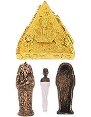 freneci World Building Architecture Model Statue Egyptian Pyramids & Coffin