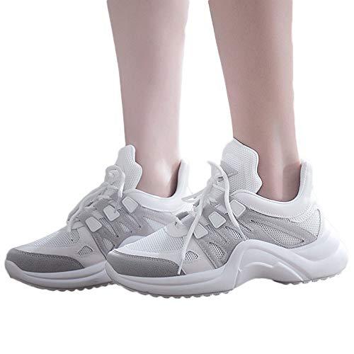 Leisure Chaussures Gris Souples Femmes Mesh Mode Baskets Respirant Et Lacets IOqw1EnpU