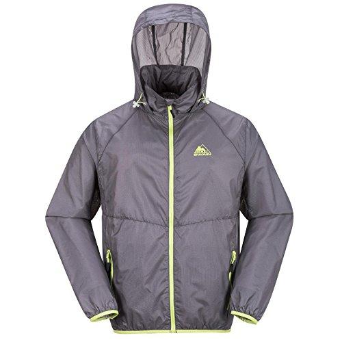 COX SWAIN Herren Laufjacke MALIX - super leicht! -, Farbe: Grey/Green Zipper, Größe: M