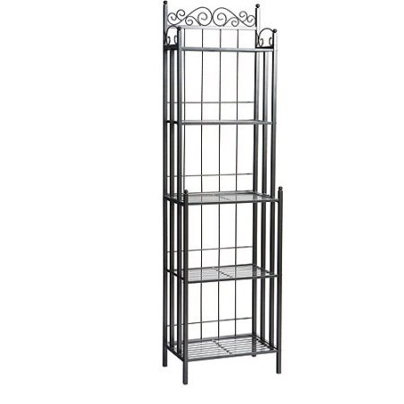 Beautiful Bakers Rack, Textured Gun Metal Grey Finish, Durable Metal Construction, Help Baked Goods Cool Faster, Keep Treats Off The Counter and Free Up Workspace by GAShop