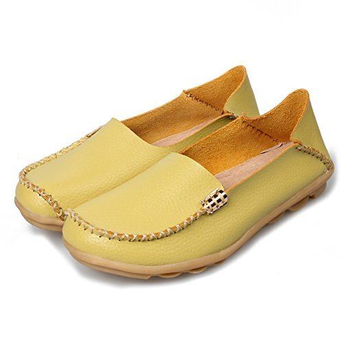 Mocassini In Vera Pelle Da Donna Del Lingtom Scarpe Casual Da Mocassino Scarpe Da Guida Piatte Slip-on Shoes Green