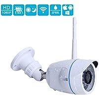 Security Camera, INKERSCOOP 1080P Outdoor&Indoor WiFi IP Camera Plug&Play Wireless Security Camera Bullet Waterproof Network Bullet Camera with 16G SD Card (1080P-16G)