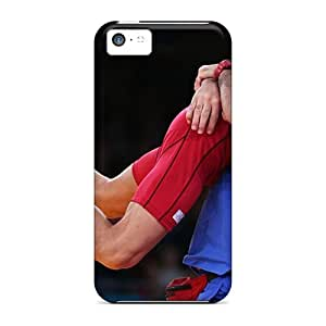 Rugged Skin Case Cover For Iphone 5c- Eco-friendly Packaging(wrestling Iran Athletics Olympic 2012)