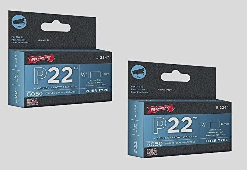 2-boxes-of-5000-224-arrow-staples-1-4-6mm-plier-type-p-22-stapler