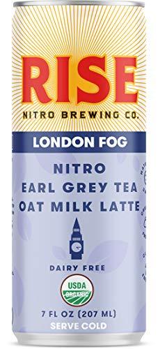 RISE Brewing Co. | London Fog Earl Grey Tea Oat Milk Nitro Latte | Vegan | USDA Organic, Non-GMO | Clean Energy | 7 fl…