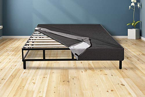 MATTRESS AMERICA Easy Assemble Mattress Foundation/Box Spring with Legs. Strong Steel Structure with Wood slats, Cover and 6'' Legs. Can be Used and as Platform Base or just a Box Spring (Queen) by MATTRESS AMERICA