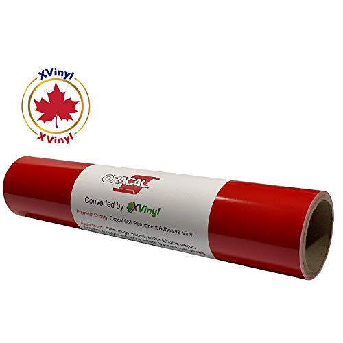 Red Vinyl Roll of Glossy Oracal 651 (12