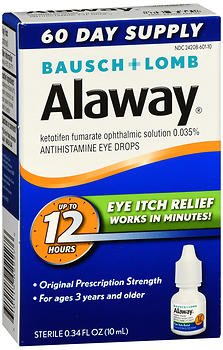 Bausch + Lomb Alaway Allergy Itch Relief Eye Drops - 0.34 fl oz, Pack of 4