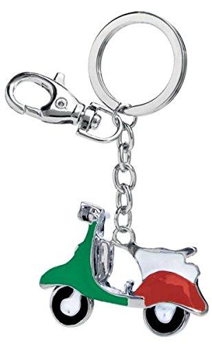 Ten Llavero Vespa Italia Verde Blanco y Rojo cod.EL3058 cm 8 ...