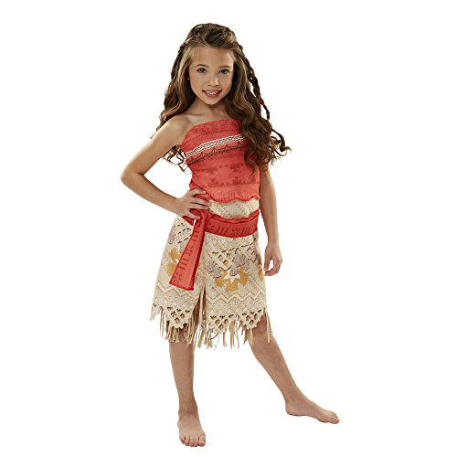[Disney Moana Girls Adventure Outfit, Age: 3+, Size: 4 - 6x] (South Pacific Costumes)