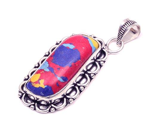 Nimbark Spiritual Jewelry Beautiful Mosaic Jasper Handmade Jewelry Pendant 2''