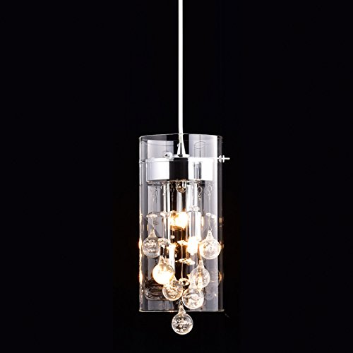 Truelite Modern G9 Glass Pendant Crystal Hanging Light Fixture