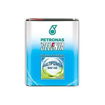Selenia 1416 Aceite de Motor Sintético 5W40 Multipower Gas - 1L: Amazon.es: Coche y moto