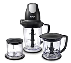 Ninja Master Prep Professional with Patented Ninja Blade Technology The Ninja Master Prep Professional handles all of your chopping, food processing, and blending needs in 3 conveniently sized jars great for personal servings o...