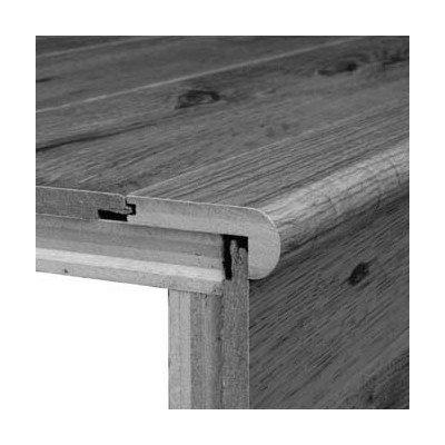 78u0026quot; X 3.13u0026quot; Oak Stair Nose In Gunstock