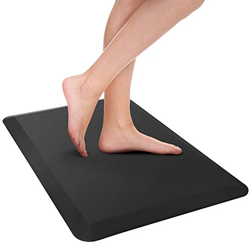 Ergo Foam - SHINEURI Comfort Mat, Anti Fatigue Mat to Reduce Back Pain Stain Resistance No - Slip Standing Mats with 3/4 inch Thick Ergo - foam Core, Suit for Kitchen, Office and Garage 20 x 32 x 3/4 inch - Black