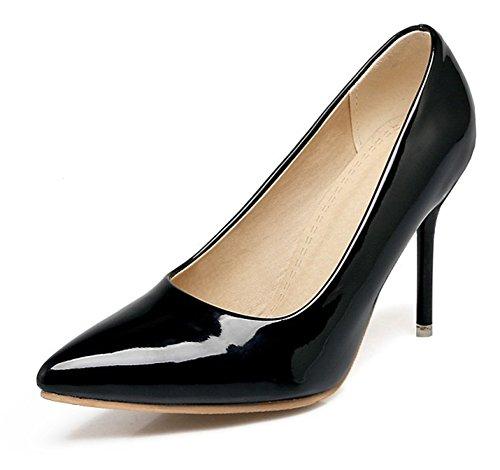 Scarpe Donna Easemax Elegante Brunito Punta A Punta Slip On Tacco Alto Scarpe Con Tacco A Spillo Nero